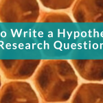 honeycomb background, how to write a research hypothesis on a green banner