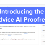 wordvice ai proofreader screen with blue banner